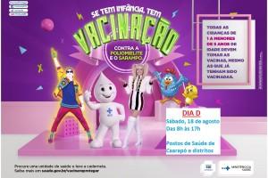 Ilustração da campanha de vacinação/Ministério da Saúde
